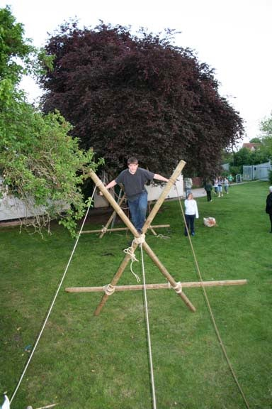 Simple Pioneering - Build a Monkey Bridge From Wood Poles