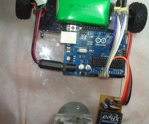 Wireless Robo-car  Using  360°  Servo Motor