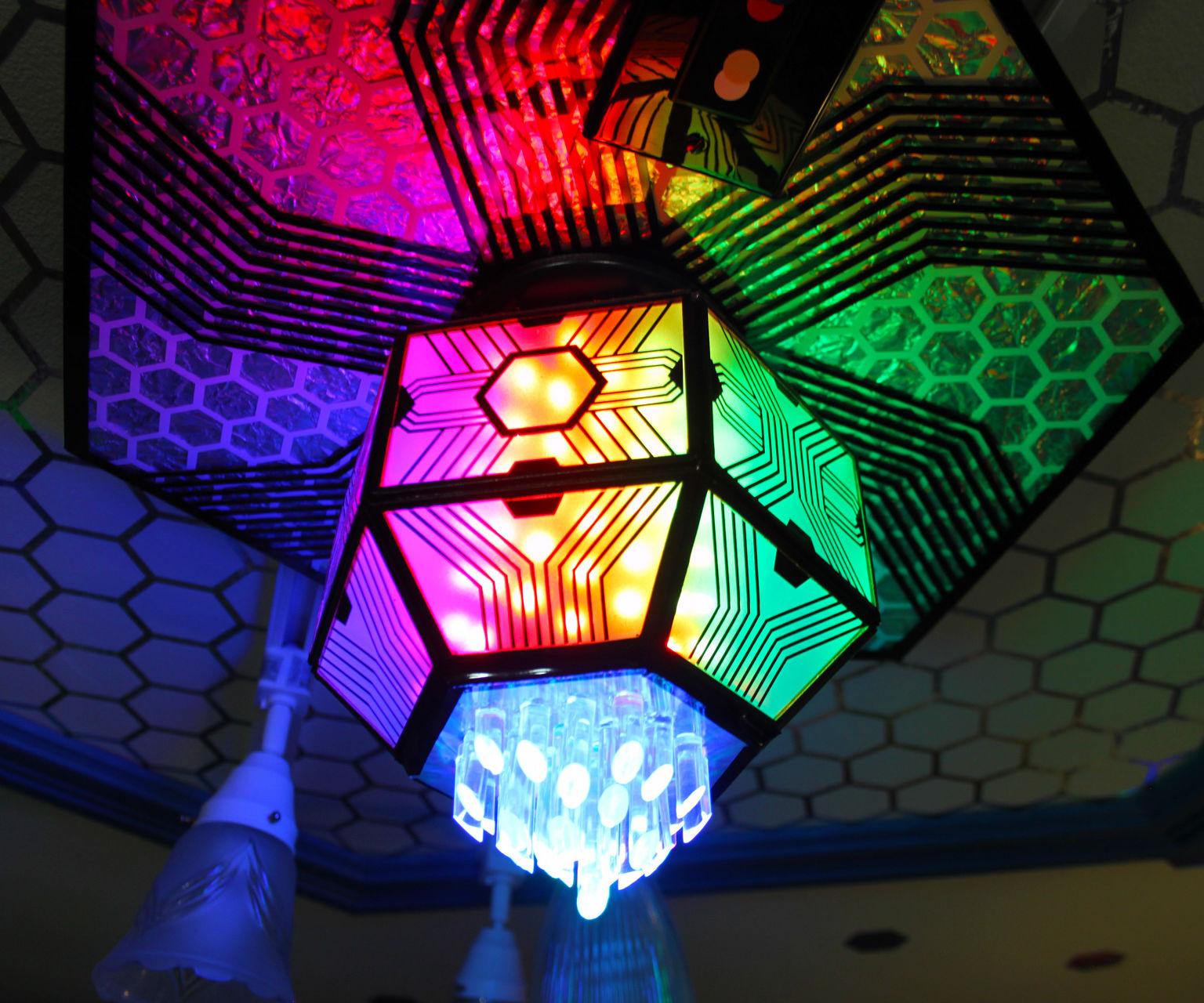 Glass Hexagon LED Pixel Fixture