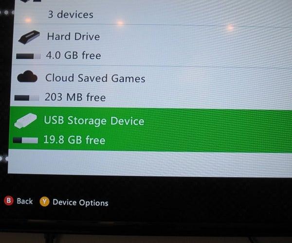 Make a Xbox 360 External Storage Partition