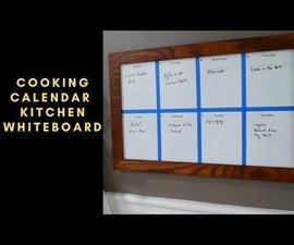 Cooking Calendar Kitchen Whiteboard