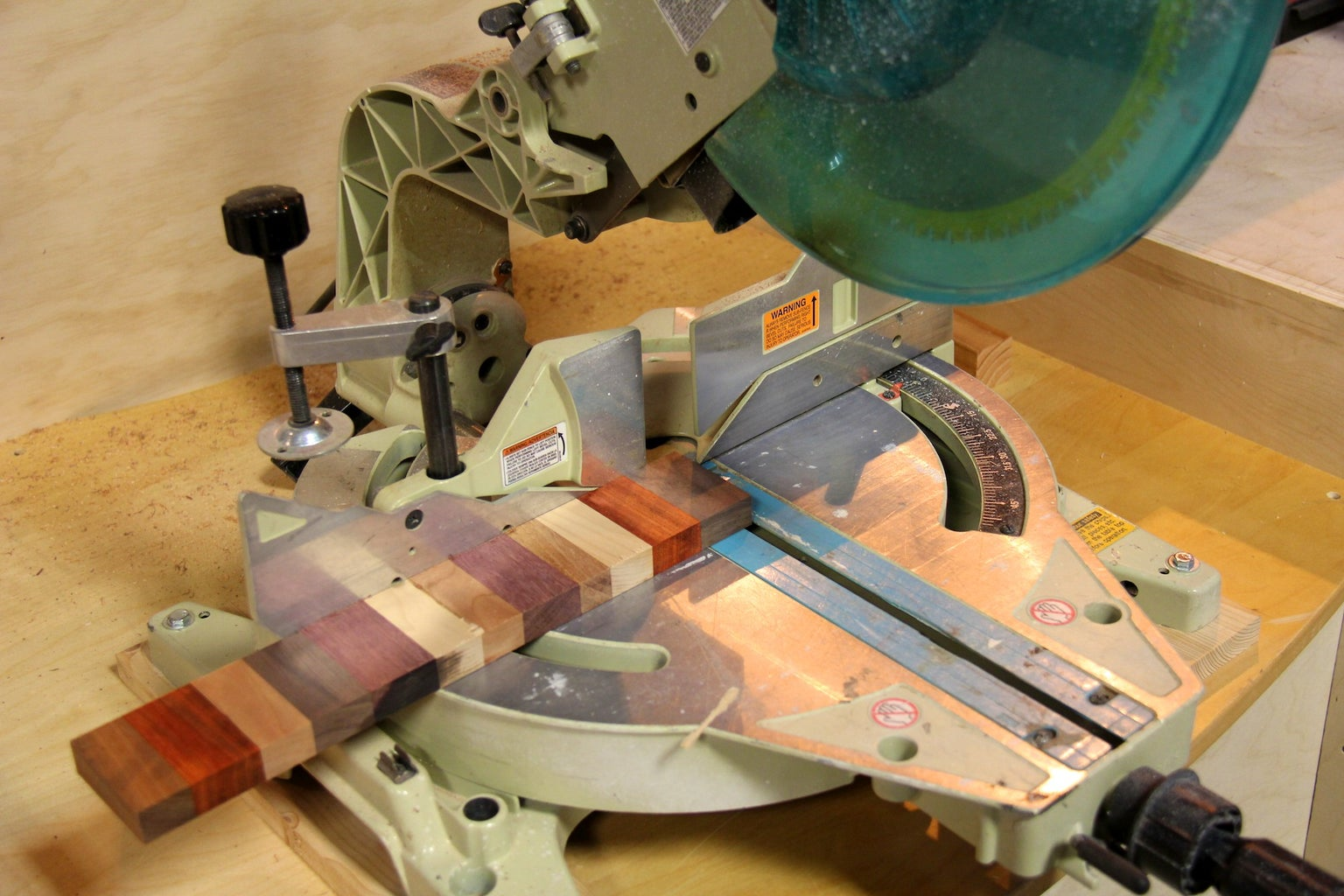 Miter Saw Edges to Prepare for Gluing