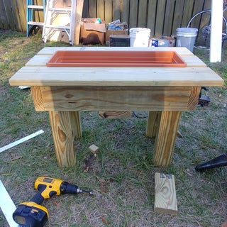 Outdoor End Table With Built in Cooler or Flower Planter