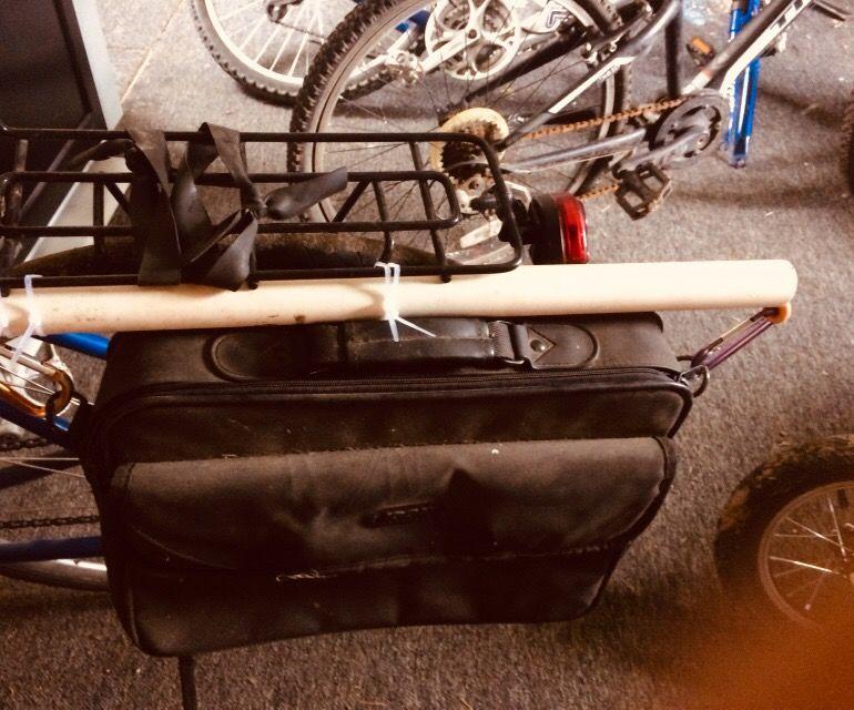 Cheap and Versatile College Bicycle Bag Aka Pannier Bag