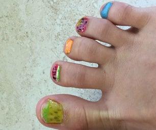 Summer Toenail Art - Beginner Nail Art