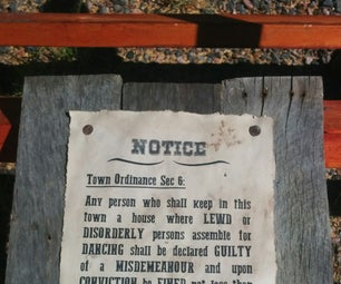 Antique Western Saloon Sign