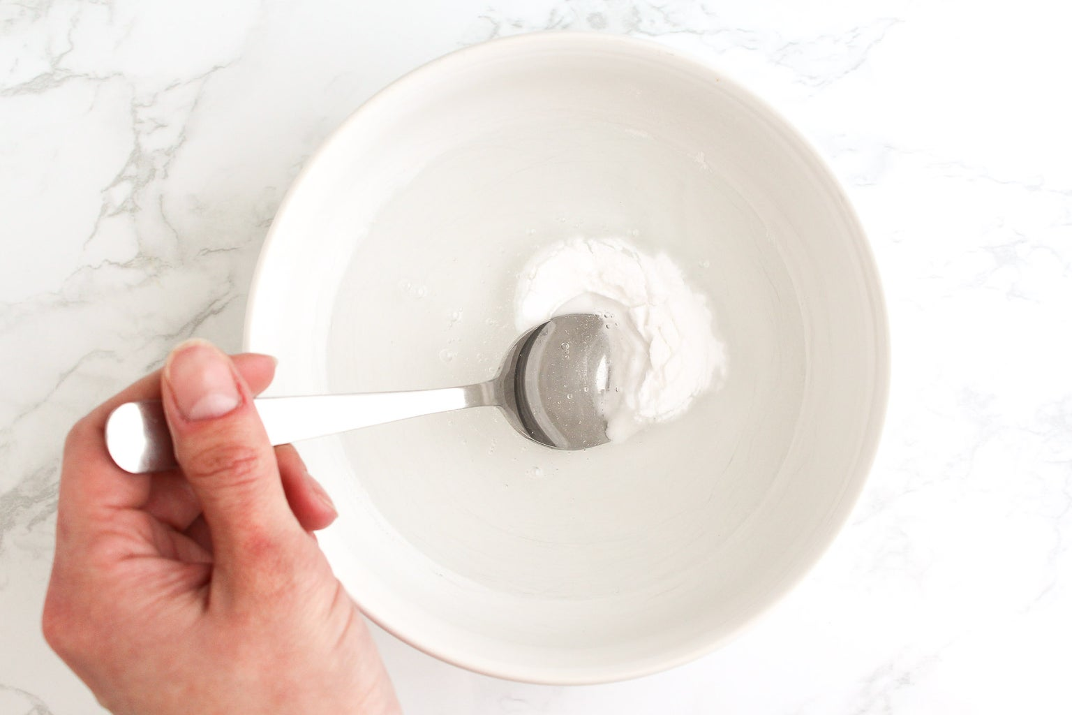Combine the Glue and Baking Soda