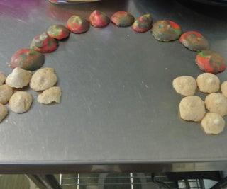 Rainbow Tie-dye Cherry Meringue Cookies