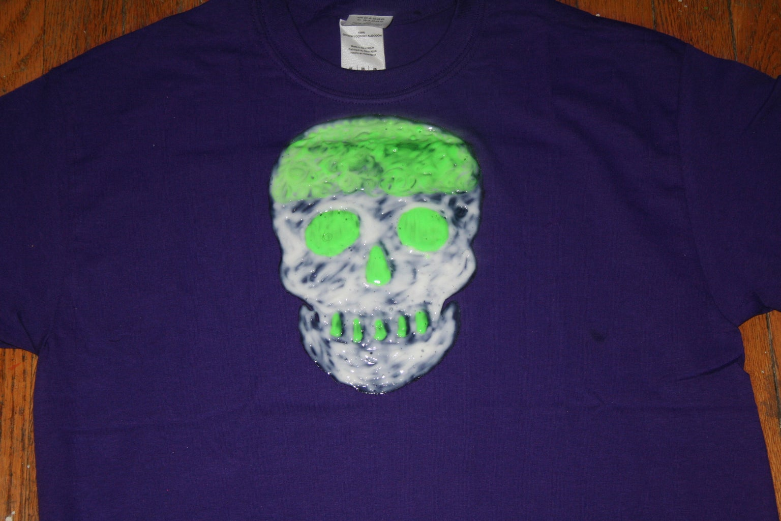 3D Glow-in-the-Dark Skull T-Shirt