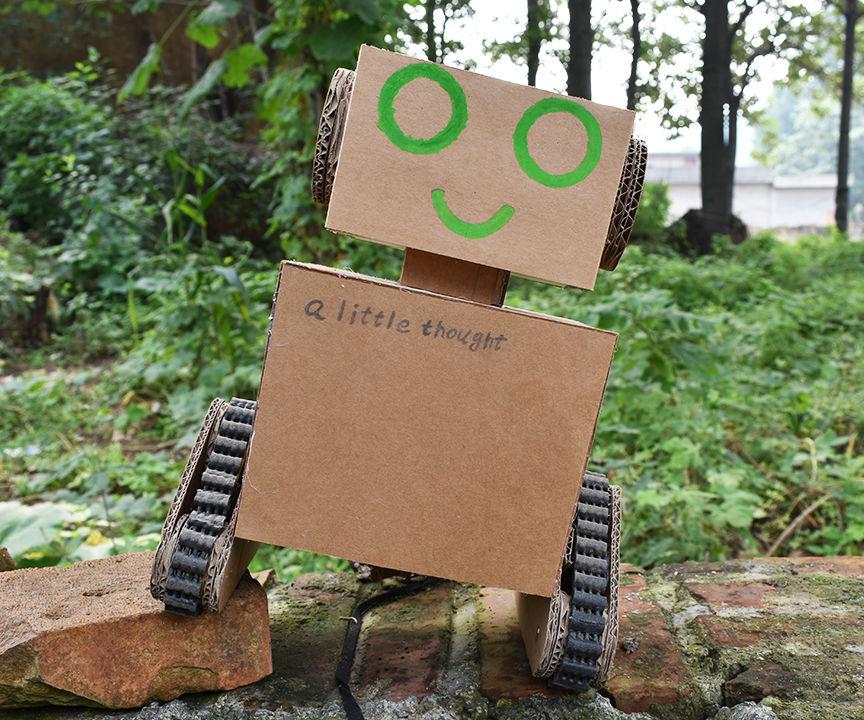 Corrugated Cardboard Making Crawler Robot Toy