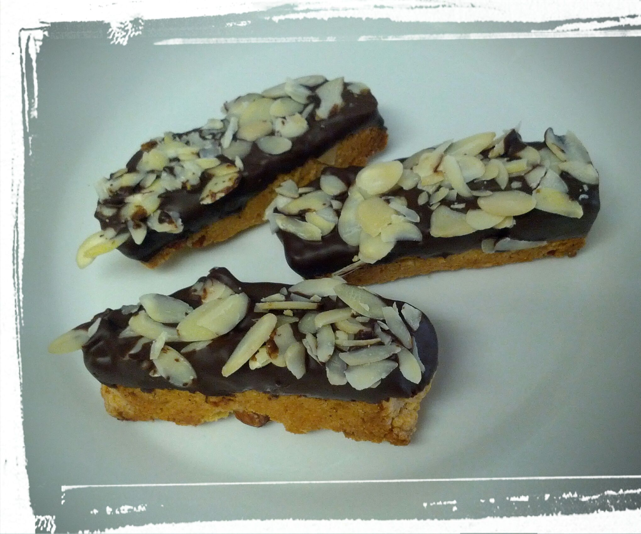 Chocolate-Dipped Orange Almond Biscotti
