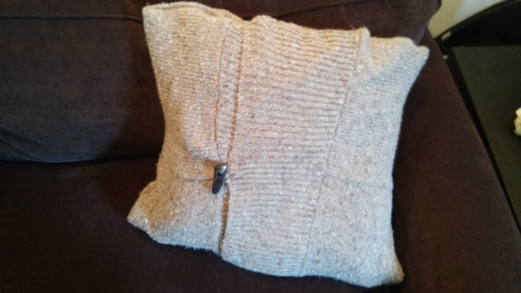 Pillow Cover From Old Sweater
