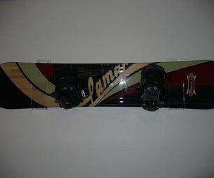 Diy Wall Snowboard Rack