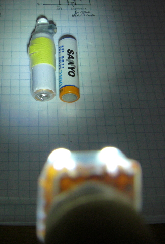 A high-power LED torch using a single AA-battery