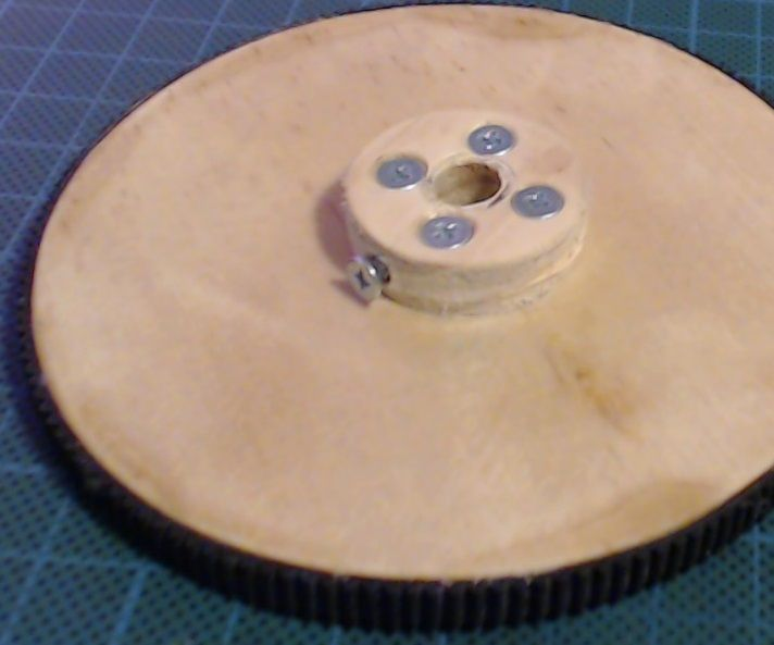 DIY Plywood and Rubber Drive Gear