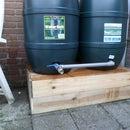 Double rain barrel system