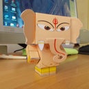 ganapati papercraft template