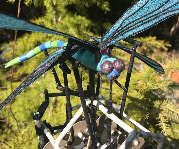 Paper Animatronic Dragonfly