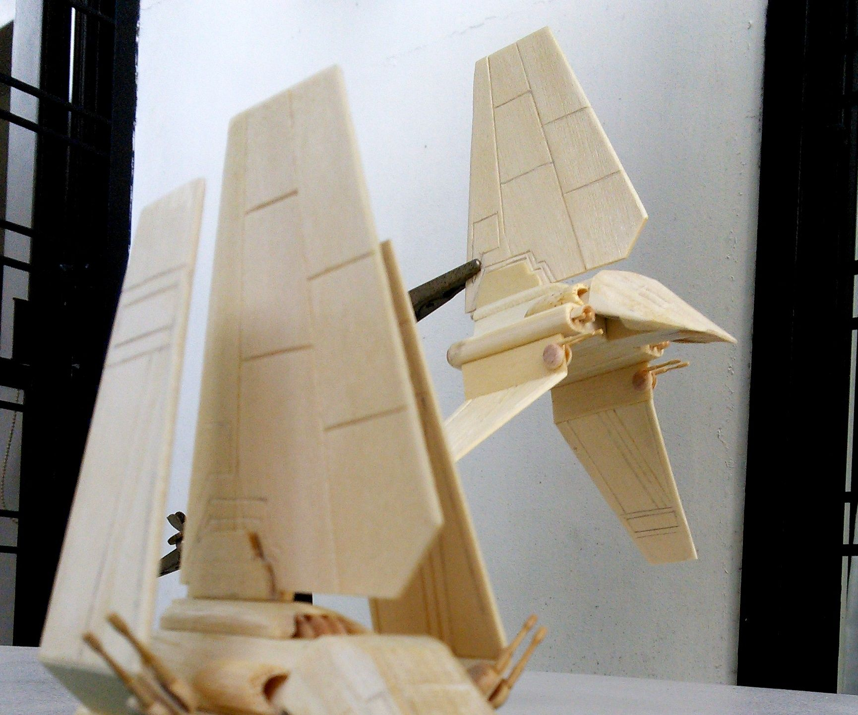(Not so) Mini Lambda-Class Imperial Shuttle Popsicle Stick Model