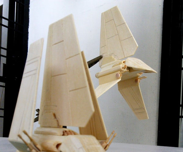 (Not So) Mini Lambda-Class Imperial Shuttle Popsicle Stick Model