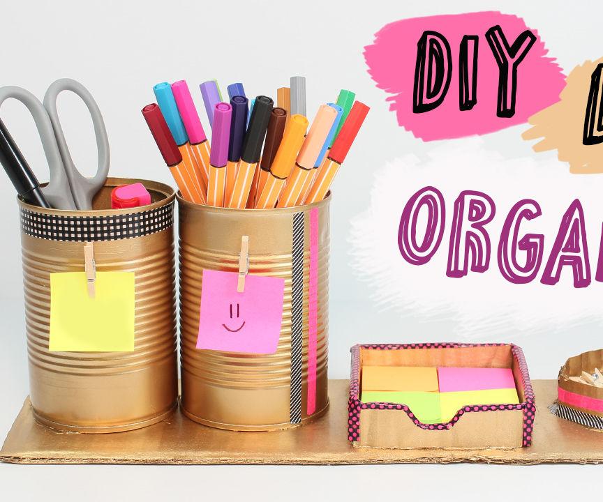 How to make a Easy Desk Organizer