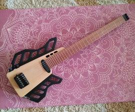 Transformable Headless Travel Semi-Acoustic Guitar