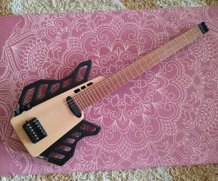 Transformable Headless Travel Semi-Acoustic Guitar