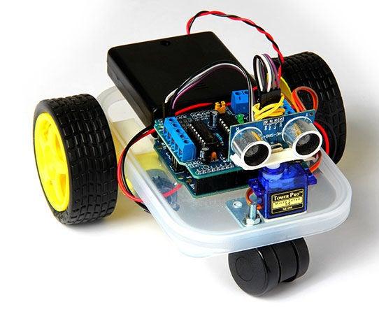 Arduino Wandering Robot (Improvised)