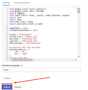 Google Cloud Functions - Save Changes: