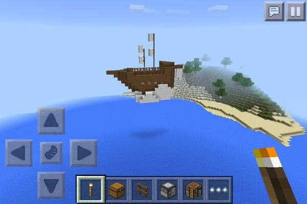 Mine Craft Floating Ship