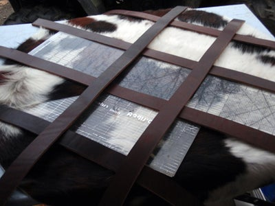 Measuring & Cutting the Leather for the Front