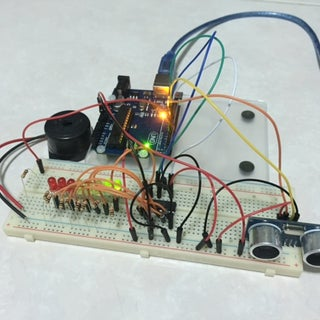 Arduino - Ultrasonic Sensor With LED's and Buzzer
