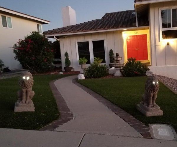 Solar LED Eyes for Lion Statues