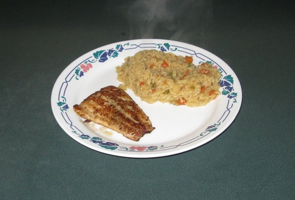 Brazed Salmon or Trout With Rice