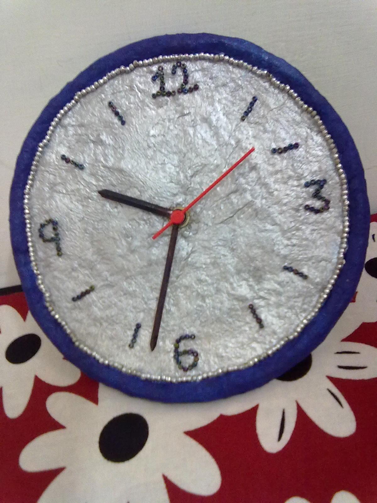 paper mache wall clock