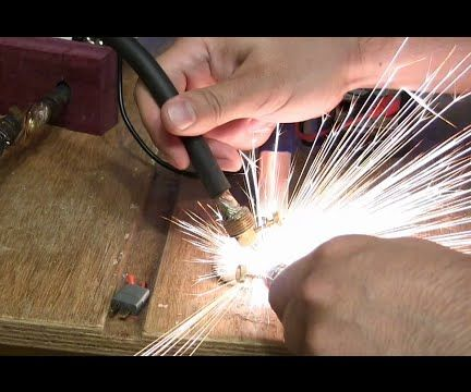 Lithium powered spot welder