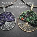 Tree of Life Wire Pendant With Gemstones