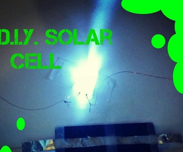 Homemade Solar Cell Using Household Items (update)