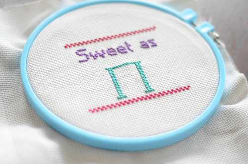 """Sweet as Pi"" Cross Stitch"
