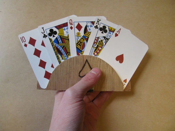 Custom Wooden Playing Card Holder