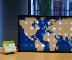 Sparkle Motion: an LED World Map Driven by Global Twitter Traffic Data
