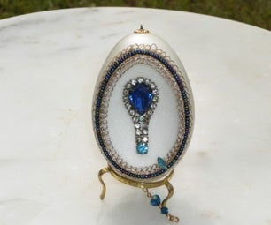 Blue Jewel Egg - Faberge WannaBe