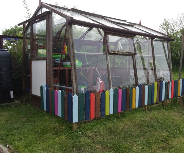 Greenhouse Child Fence From  Recycled Pallets