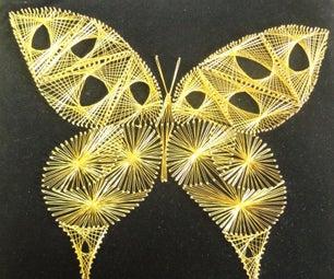 String Butterfly ( String - Nail Art )
