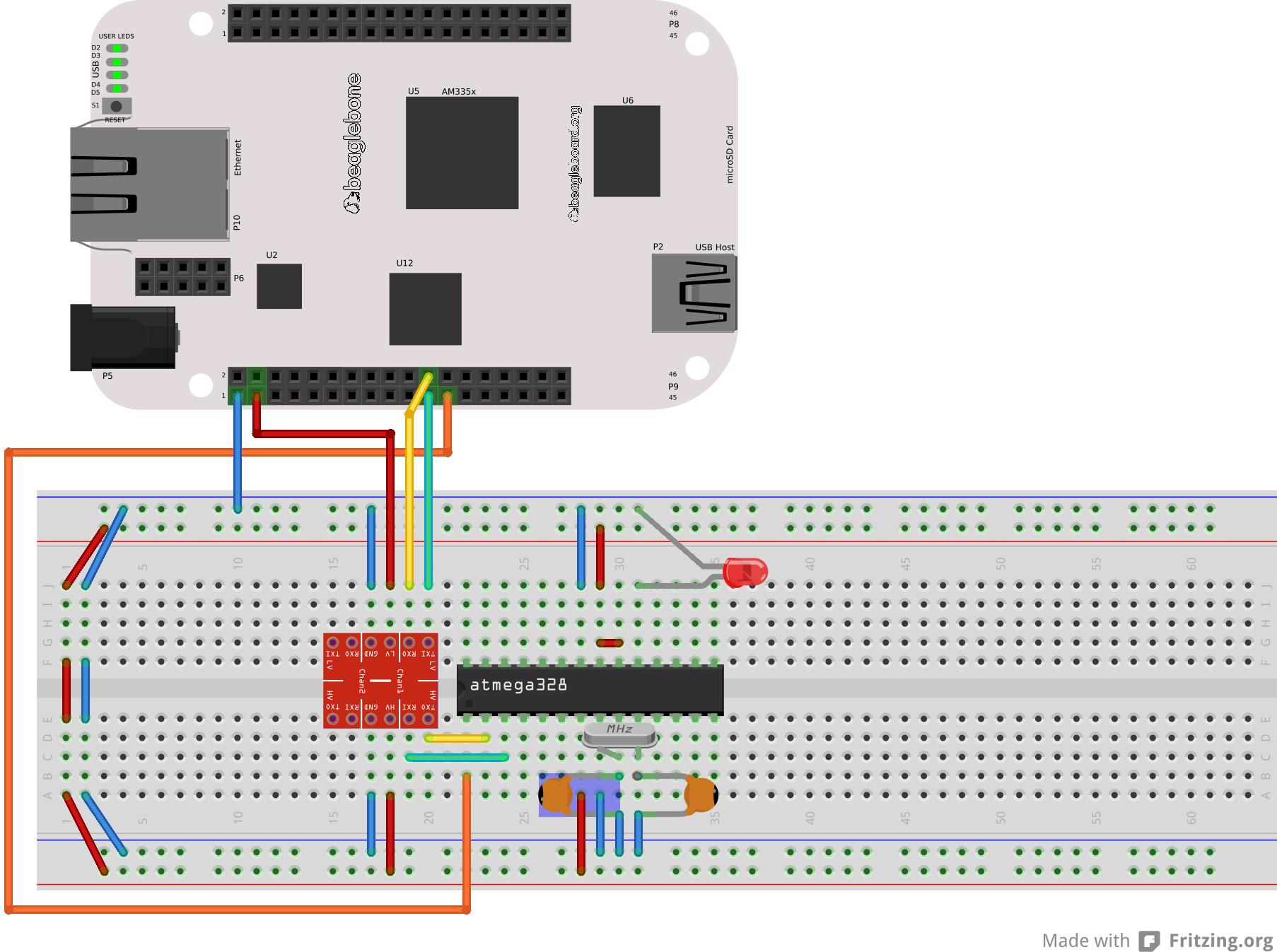 Program an Arduino using BeagleBone, without USB