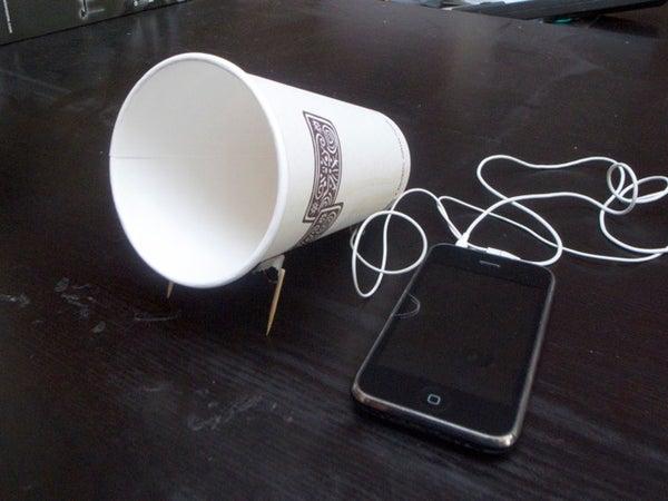 Coffee Cup IPhone Speaker