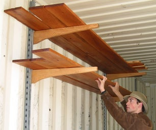 Quick and Easy Shelves for Shipping Container