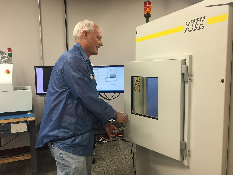 Loading the BGA Into the X-ray Chamber