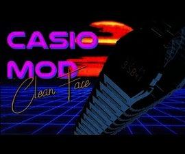 Casio A158W Clean Face Mod