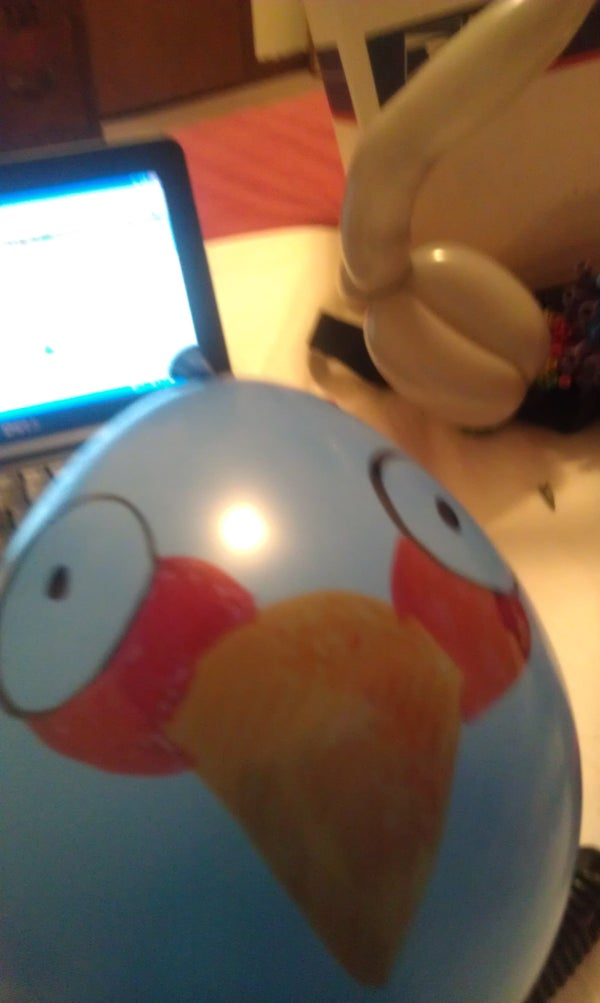 Angry Balloons: Exploding Blue Bird
